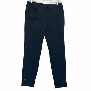 ESCADA Navy Trousers with Gold Detail